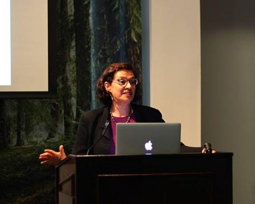 Speaking at UC Davis, May 2015.