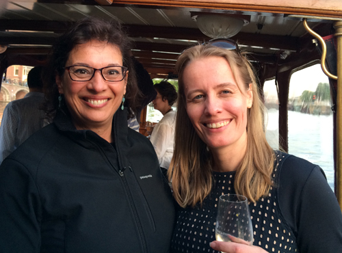With Paulien Bakker, director of the Narrative Journalism Conference in Amsterdam, in May 2014.
