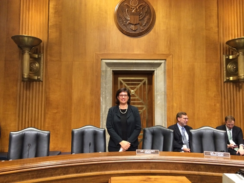 Ready to testify before the U.S. Senate Foreign Relations Committee in July 2014.
