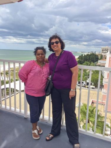 With Enrique's mom, Lourdes, in Jacksonville, Fla., in September 2014.