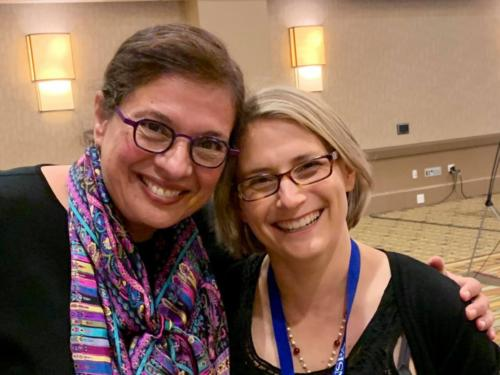 Sonia with Kristin Taylor at the National High School Journalism Convention in Anaheim, CA, April 2019, where Sonia gave the keynote before 2,800 aspiring journalists.