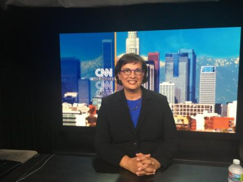 Sonia on set at CNN, June 2018.