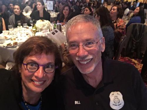 Sonia with her husband Bill at the Hispanas Organized for Political Equality 29th Anniversary Awards Dinner, where was honored with the Spirit of HOPE Award, December 2018.
