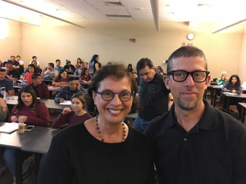 Sonia with Studiotobe co-founder Joaquin Alvarado, October 2018 in Delano, CA.